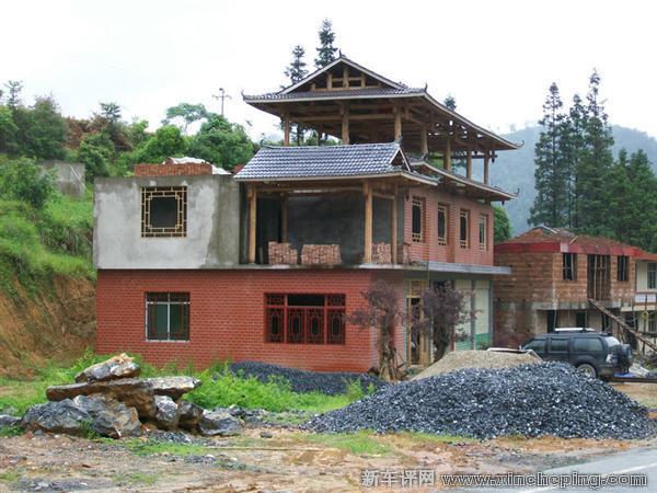 这个是现代和古代的共同体,实际上,传统的侗族房子,一般是纯木头建3~4图片