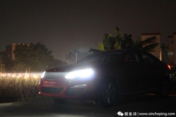 荣威550长测(6):回家需要好灯光