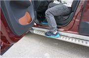 景逸X5长测(30)装饰大于实际作用的脚踏板