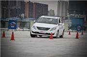 景逸S50长测(9)操控极限和ESP效能测试