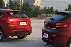 新车评对比测试观致3、福特福克斯